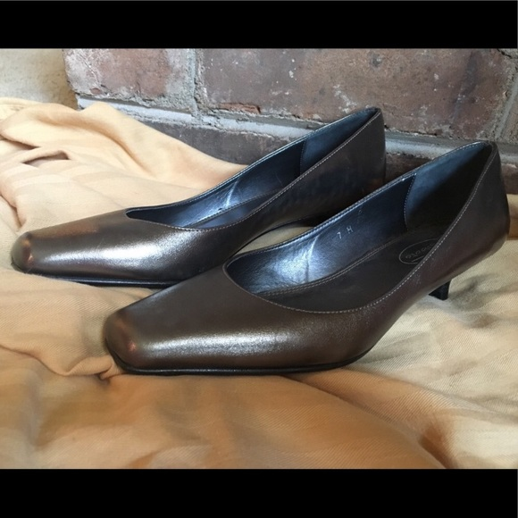 415a8a93e4b2 Talbots Shoes - Talbots Pewter Kitten Heel Shoes